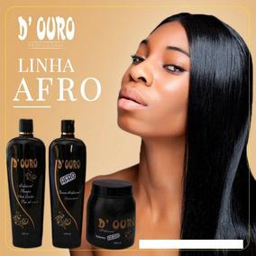 Linha Afro D Ouro Escova Progressiva + Selagem + Shampoo