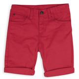 Bermuda Beto Color Rojo, Con Cintura Ajustable Y Bota Guarda