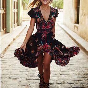 073a57a49 Vestido Hippie Chic De Noche Otros Modelos - Vestidos de Mujer Negro ...