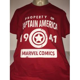 Playera Capitán America. Importada.