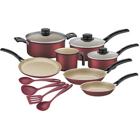 Kit Para Cozinha Tramontina Turim 11 Peças - Vermelho