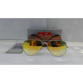 38e1d90e4 Óculos Ray Ban Aviador Dourado Com Lentes Amarela De Sol - Óculos no ...