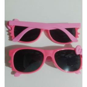 Óculos De Sol Infantil Verão Bebê Menina Gatinha Kitty Rosa 0cdabd5aff