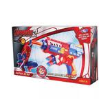 Pistola Homem Aranha Arma Lança Dardos Atira Nerf Avengers