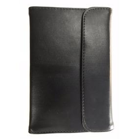 Pasta Case Envelope P/ Tablet 7 Preta Couro Sintético