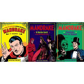 Hq Encadernada Mandrake Em Lote C/ 3 Vols. Capa Mole Pixel