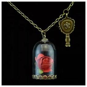 Collar La Bella Y La Bestia Envio Gratis La Rosa Eterna Enca