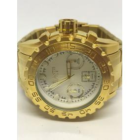 0621c7cdb67 Relogio Dourado Masculino Grande - Relógio Atlantis Masculino no ...