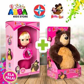 Boneca Masha + Pelucia Urso 40 Cm Original Estrela