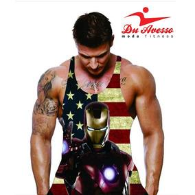 Regata Personagem - Homem De Ferro - Fitness Academia dda1bc2e21b