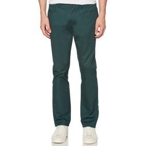 Original Penguin Pantalones Chinos Hombre Olivo Strech 30x32