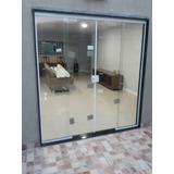 Porta Blindex 200x210 Incolor 4 Folhas