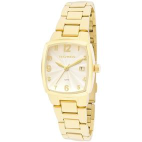 Relogio Feminino Dourado Technos Quadrado - Relógios De Pulso no ... d5ba9ea770