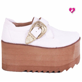 6f078560 Mercado Argentina Zapatos Mujer Plataforma Mocasines Libre Blanco En  0xTvXy8qw