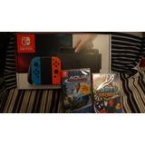 Nintendo Swicth Nuevo Y Sellado + 2 Juegos