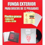 100 Fundas De Plástico Grueso Para Portadas De Disco Lp 12