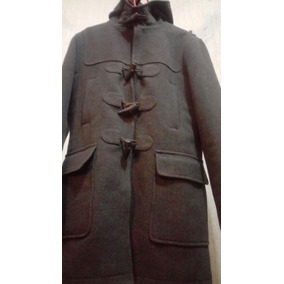 Abrigo De Lona. Duffle Coat. Gris Obscuro
