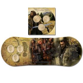 Raro Kit De 3 Moedas 1 Dollar Nova Zelândia O Hobbit Fc