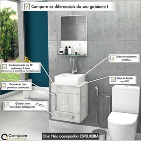 Gabinete Armário Balcão P/banheiro Prisma 45cm C/cuba Q32 #