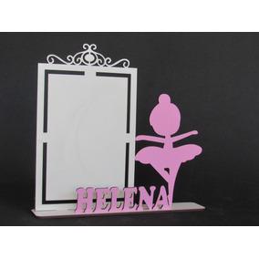 12 Porta Retrato Bailarina Personalizado Mdf Branco Festa