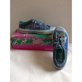 Skechers Twinkle Toes, Tennis Niña Color Mezclilla, Nuevos