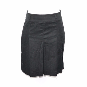 Zara Basic Falda Negro Plisada 28 Msrp $500