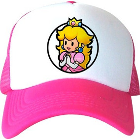 1 Gorra Mario Bros Imagen Luigi Peach Niños Regalo Fiesta