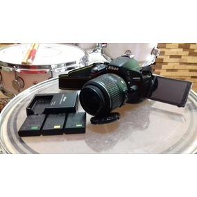 Câmera Nikon D5100 + 3 Baterias Extra