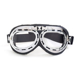 d0ea121da4d51 Óculos Aviador Lente Transparente Estilo Vintage Retro Moto