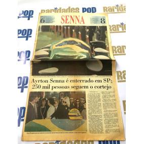 Enterro Ayrton Senna Jornal Caderno Folha Sp 1994 Original