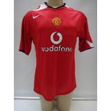 Camisa Futebol Manchester United 2004 05 2006 Nike Vodafone fd9979e7de0e2