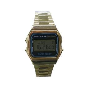 68f5224521b Relogio Backer Masculino Dourado - Relógio Backer no Mercado Livre ...
