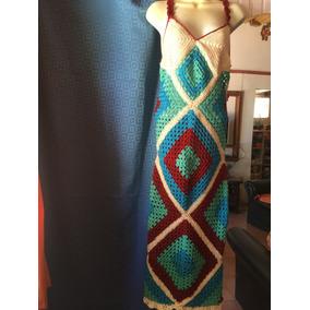 Vestido Largo En Crochet Playero O Xra Vestimenta Informal