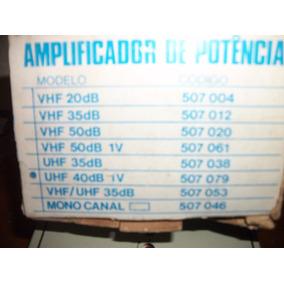 Amplificador Sinal 40db Ganho Ajustavel Tv Hdtv