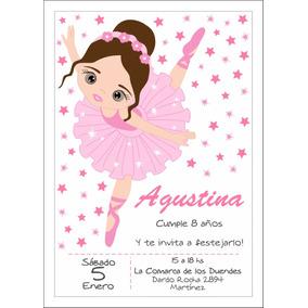 Tarjetas De Bailarinas Para Cumpleanos Souvenirs Para Tu
