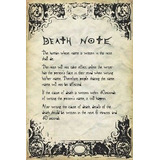 Deathnote - Reglas Poster 24 X 36in