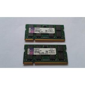 Memória P/ Notebook Ddr2 / 800 Mhz / 2x2= 4gb / Kingston