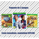 Rocket League, Fifa 19, Dragon Ball Fighter Z