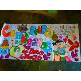 Pancartas Personalizadas Cumpleaños Aniversario Regalo Amor