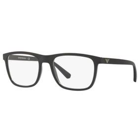 02b2e2d1f1b06 Armação Óculos Lentes De Grau Emporio Armani Preta Com Prata ...