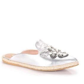 8f37b73405 Sapato Mule Dourado Tamanho 34 - Sapatos 34 Prateado no Mercado ...