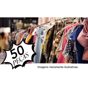 Brechó Lote Roupas Femininas 50 Peças