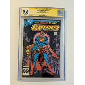 Crisis On Infinite Earths #7 Cgc Autografado Wolfman E Pérez