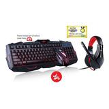 Mouse Gamer Teclado Gamer Audífonos Micrófono Combo Gamer