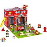 Pidoko Kids Fire Station Juguete 19 Piezas Juego Caja Ma