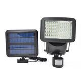Reflector Led Solar 60 Leds Sensor Movimiento Luz Seguridad