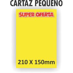 10 Cartaz P/ Marcacao Oferta Pq 21x15cm Amarelo Grespan C/10
