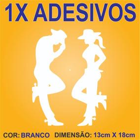 8f76db2e357f6 Adesivo Cowboy Cowgirl Branco Frete Adesivos - Acessórios de ...