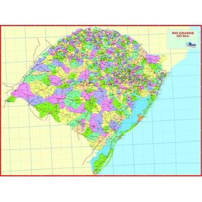 Mapa Estado Rio Grande Sul-político-117 X 89 Cm-frete 6,90