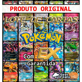 Kit Lote Pokémon 50 Cartas + Ex + Lendário + Brinde